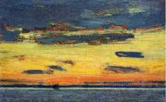 Sunset on the Sea - Childe Hassam - The Athenaeum