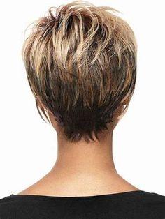 Résultat d'images pour Short Hairstyles for Women Over 60 Back Views Medium
