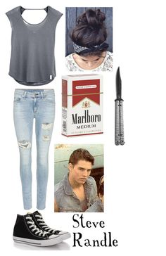 Steve Randle by stay-gold-ponyboy-1 on Polyvore featuring polyvore beauty rag & bone Converse