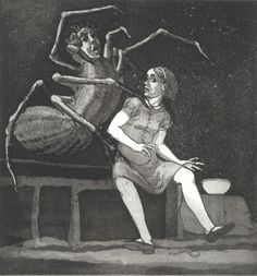 Paula Rego Spider I like the surreal nature of the image with he human spider creature