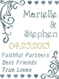 Wedding Cross Stitch Pattern/Cross Stitch by oneofakindbabydesign
