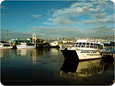 Barcos no rio Mampituba