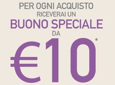 Da Coin un buono sconto del valore di 10 euro