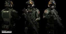 Ghost Recon Phantom /AirBorne Raiders  -Support Class , Khan SevenFrames on ArtStation at https://www.artstation.com/artwork/ghost-recon-phantom-air-bourne-support-class