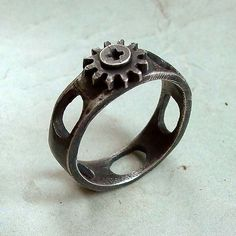 Screw Cap RIng  Size 11  Black  Sterling Silver  by andyshouse, $96.00