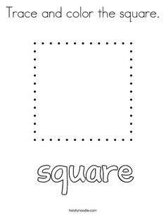 Trace and color the rectangle Coloring Page - Twisty ...