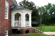 colonial house with porch | Covered Porch Colonial House Deck Modern Home Suburbia - Stock Photo ...