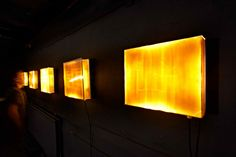 Porcelain light boxes - installation view