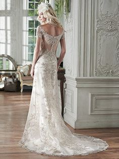 2016 Wedding Dress Trends: Metallic Lace. Riviera by Maggie Sottero.