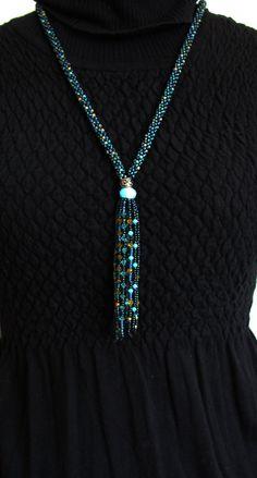 Swarovski Crystal Kumihimo Fringe Necklace