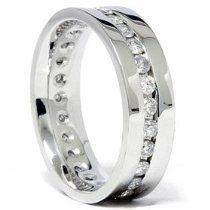 Mens 125 CT diamant mariage Eternity Ring or blanc par Eternity Ring Diamond, Diamond Wedding Rings, Wedding Ring Bands, Diamond Rings, Eternity Rings, Men Wedding Rings, Emerald Rings, Ruby Rings, Emerald Pendant