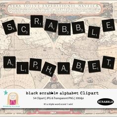 SALE Scrabble Alphabet Clipart by Dreaming on a Star $5.00
