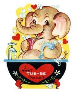 Vintage Elephant Valentine : Nancy E. the Heavenly Seasoned Palette Valentine Images, My Funny Valentine, Vintage Valentine Cards, Valentines For Kids, Vintage Greeting Cards, Valentine Day Cards, Vintage Postcards, Happy Valentines Day, Valentine Sayings