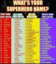 Image result for what is your superhero name | Quilt Retreat Ideas ...