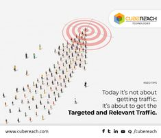 The main strategy of SEO is to drive traffic towards your website.  Getting traffic to the website is more important but the huge traffic without the targeted audience will not make an impact in your business.  Focus and research more about your target audience. Drive your SEO process in that way to get relevant traffic which helps to grow your business/brand. #SEOTips #WebTraffic #CubeReach