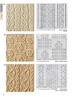 Cable Knitting Patterns, Knitting Stiches, Knitting Books, Knitting Charts, Lace Knitting, Knitting Needles, Knit Patterns, Stitch Patterns, Filet Crochet