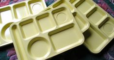 School Lunch Trays from the 60's  70s   Just like we had in grade school!