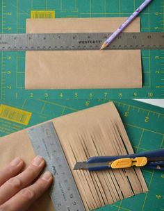 Hexenbesen aus Papier und Strohhalm basteln