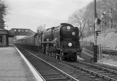 Photo of Bulleid West Country Class pacific number 34027, Taw Valley, at Woldingham with the 18.10 London to Brighton train on 26th April 1962