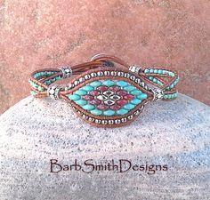 Bracelet celui béat en Turquoise en perles par BarbSmithDesigns