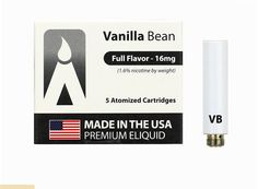 E-cigarette by Volcano USA-Made MAGMA Prefilled Cartomizers - Vanilla Bean, www.powersmoke.com Volcano, Vanilla, Beans, Usa, How To Make, Volcanoes, Beans Recipes, U.s. States