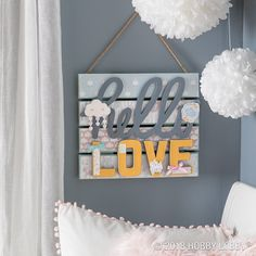 Cardstock stickers and papers make quick work of statement wall decor! Diy Projects Videos, Diy Crafts Videos, Diy Crafts For Kids, Craft Projects, Diy Wall Decor, Diy Home Decor, Nursery Decor, Bedroom Decor, Business Makeup