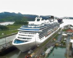 Ships in the Panama Canal: The Coral Princess Cruise Ship in the Panama Canal