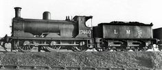 """No 17460. A Drummond 294 """"Jumbo"""" Class 0-6-0ST Pug. It was built for the Caledonian Railway in 1897 as CR 596. It became LMS 17460 on grouping and 57460 by BR at nationalisation. It was classed by LMS as Class 2F. It was withdrawn at Stirling South in 1957 and scrapped at Kilmarnock Works Rail Train, British Rail, Steamers, Steam Engine, Steam Locomotive, Train Tracks, Stirling, Military Vehicles, Scotland"""