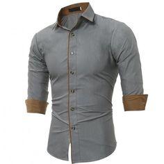 Mens Autumn Winter New Color Casual Camisa Slim Long Sleeve Shirt Fashion Shirts Male Tops - Cotton Shirts For Men, Casual Shirts For Men, Men Casual, Men Shirts, Shirt Men, Flannel Shirts, Short Shirts, Cheap Shirts, Collar Shirts