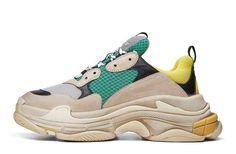 99ad4c75ec4 Balenciaga Triple S Trainer Yellow Green Sneaker for Sale - 483513W06E37070  (1) Green Sneakers