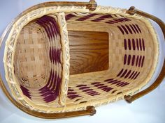 Hand Woven Large Market Style Divided Basket by BrightExpectations