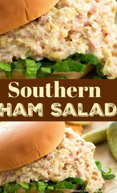 Transform leftover holiday ham into this tasty Southern Ham Salad. It's perfect for slathering on crackers, bread or crostini for snacking and quick meals. Ham Salad Recipes, Best Egg Salad Recipe, Pork Recipes, Lunch Recipes, Cooking Recipes, Healthy Recipes, Sandwich Recipes, Ham Salad Recipe Paula Deen, Chopped Ham Salad Recipe
