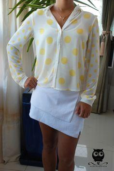 camisa poás + saia short off <3 www.missconstancia.com.br