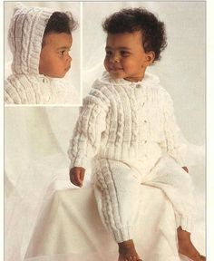 Baby Knitting PATTERN  Hooded Jacket and Trousers  DK by carolrosa