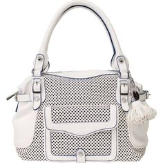 Jessica Simpson Mercer Top Handle Bag,Cotton White,One Size - http://clutches-handbags-shoes.com/2014/01/jessica-simpson-mercer-top-handle-bagcotton-whiteone-size/