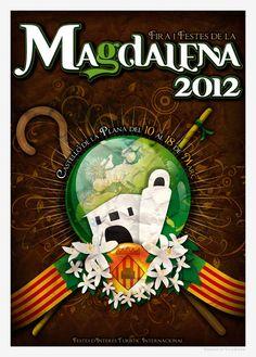 Cartel de las Fiestas de la Magdalena 2012 (Castellón)