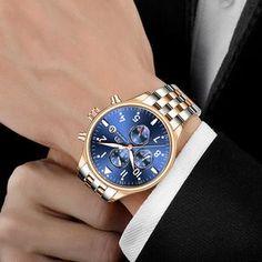 Quartz watch men sport clock Wristwatch Display Date Fashion Leather