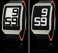 E Ink Digital Hour Clock Watch