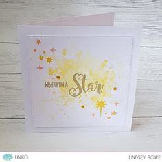 Uniko Reach For The Stars Clear Stamp Set. Card By Design Team Member Lindsey Bowe