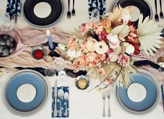 Edgy and Romantic Inspiration  #tablescape #tablesetting
