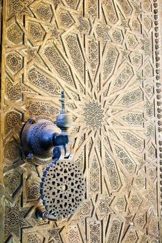 STUNNING! Mosque door detail via Inviting Home on G+ @duverrehardware #inspiration #interiordesign