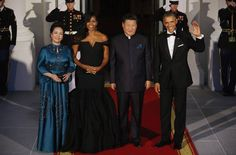 The First Lady looks gorgeous in Vera Wang. And President Obama simply looks handsome.