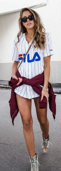 Sporty Shirt Casual Outfit by Kenzas