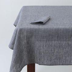 Tablecloth: Navy Stripe