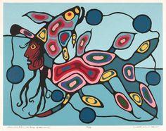 Morrisseau — E & A Studios Native Canadian, Canadian Artists, Native American Art, Kunst Der Aborigines, Haida Art, Indigenous Art, Global Art, Aboriginal Art, Native Art