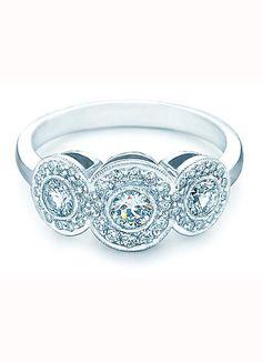 Tiffany & Co. Three Stone Circlet Diamond #Engagement #Ring