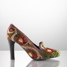 Ralph Lauren needlepoint pumps... would have sex with someone if they paid me with these shoes!