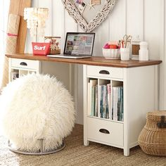 minus the fuzzy ball chair ;-) Chatham Large Pedestal Desk for me