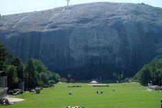 Stone Mountain is surrounded by a huge park that hosts all kinds of fun activities, concerts, and festivals.