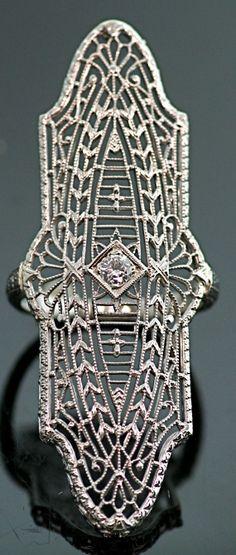 Eduardian Antique Filigree Platinum/14karat  by SITFineJewelry, $2750.00